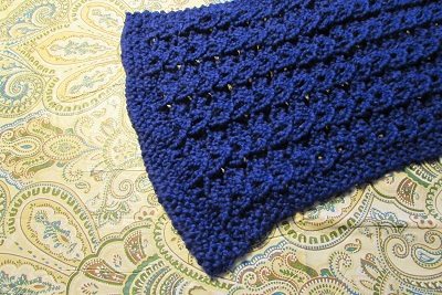 two sided mock cable scarf