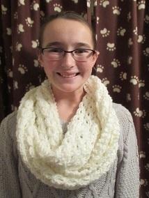 Sarah with circle scarf